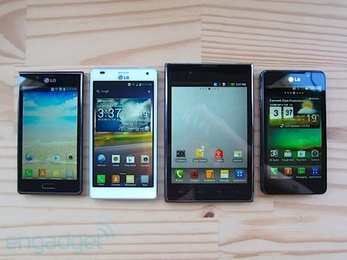 各有千秋 LG Optimus系列四款设备全家福