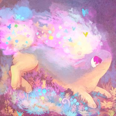 萌到极点 超可爱的宠物小精灵主题画作赏