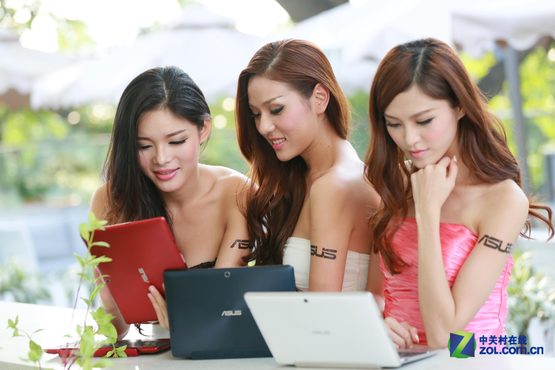美女爱不释手 华硕人气平板外拍多图 平板电脑