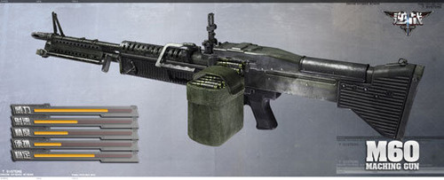 《逆战》游戏资料常用武器机枪介绍