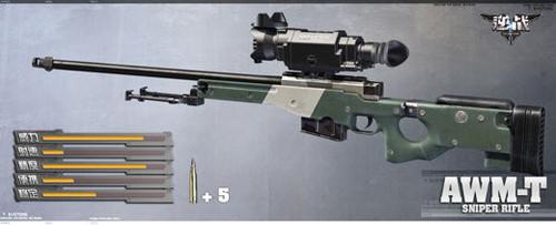 《逆战》游戏资料常用武器狙击枪介绍