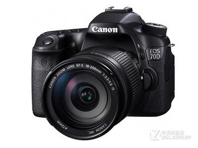 佳能(Canon)EOS 70D 单反套机(EF-S 18-200mm f/3.5-5.6 IS) 2420万有效像素 45点十字对焦 WIFI/NFC