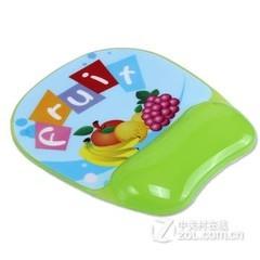 梦天高档PVC面板透明硅胶护腕鼠标垫 水果