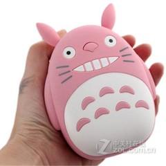 新款超萌创意龙猫移动电源12000毫安通用型手机礼品充电宝 粉红色 12000
