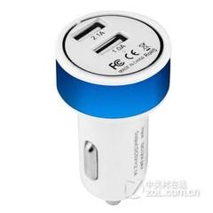 柏汉森车载充电器 双USB输出 园头-蓝色
