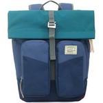 promax户外旅行背包女帆布大容量双单肩包运动手提包多功能背包MD1059B-41 绿蓝/蓝色