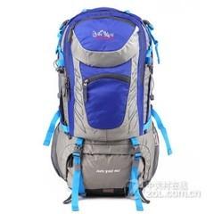 攀跃PANYUE正品男女专业户外登山包双肩包男户外50L多功能型旅行浅蓝色