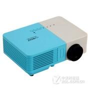 EUG 500D+微型投影仪家用 高清 礼品迷你投影仪 便携LED投影机 黄色
