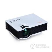 优丽可(UNIC)2015新款UC40家用LED微型投影仪连电脑U盘高清迷你便携投影机 白色+100吋简易幕布(送高清线) 套