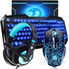 标王背光有线键鼠套装(黑标王鼠+R220彩虹键盘)