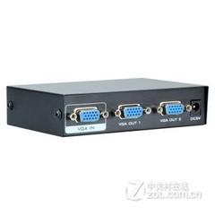 VGA分配器一分二分屏器高清视频 电视电脑1拖2视频分频器
