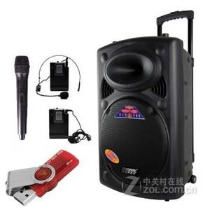 特美声2305S-16广场舞户外音响插卡便携拉杆锂电池大功率音响音箱配置1-官方标配