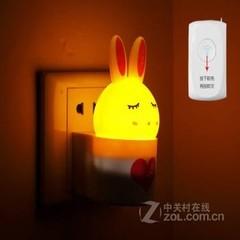 银之优品可爱兔子小夜灯 升级遥控版 橙光