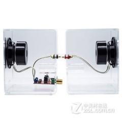 声色(sensc)X1 HIFI水晶音箱音响 高保真2.0书架音箱 创意多媒体音箱 X1 有源版蓝色