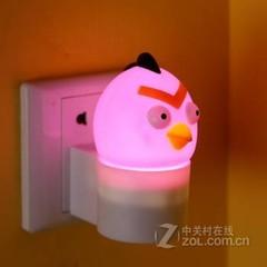 银之优品愤怒的小鸟小夜灯 圆头小鸟粉色