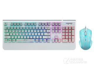 雷柏V110混光游戏键鼠套装