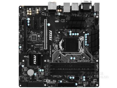 微星 B150M MORTAR  6相供电,双相散热,4K输出,VGA护甲,M.2WIFI插槽,GAME BOOST,D4 BOOST提升游戏FPS