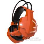 友柏X5头戴式重低音耳机耳麦 橙色发光
