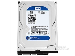 西部数据1TB 7200转 64MB SATA3 蓝盘(WD10EZEX)