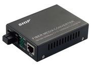 一舟10/100/1000M多模单纤光纤收发器外置电源SSB1000-X