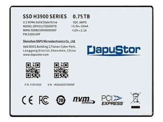 大普微Haishen H3900-U.2(0.75TB)