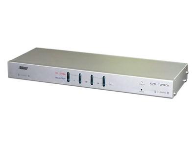 LANBE AS-2104R 1组KVM操作4台主机  机架式   键盘、鼠标接口PS/2