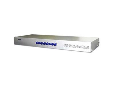LANBE MS-81R  1组KVM操作8 台主机 机架式    手动切换