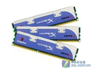 金士顿6GB DDR3 2000(KHX2000C8D3T1K3/6GX/三通道套装HyperX)