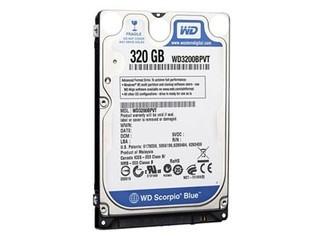 西部数据Scorpio Blue 320GB 5400转 8MB SATA2(WD3200BPVT)