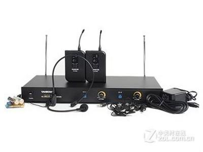 得胜(TAKSTAR) TS-6700PP 无线麦克风 一拖二无线领夹话筒 演出 教学 黑色