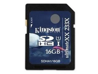 金士顿SDHC卡 UHS-1 233X(16GB)