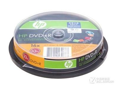 惠普 DVD+R 16速 4.7G(10片桶装)