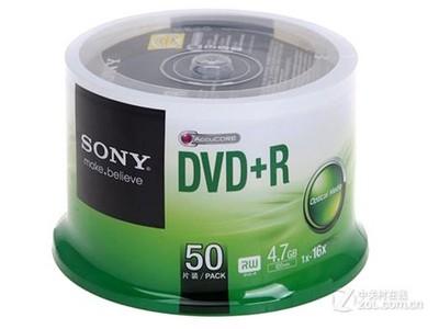 索尼 DVD+R 16速 4.7G(50片桶装)
