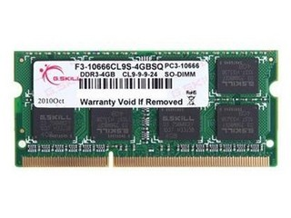 芝奇4GB DDR3 1333(F3-10666CL9S-4GBSQ)