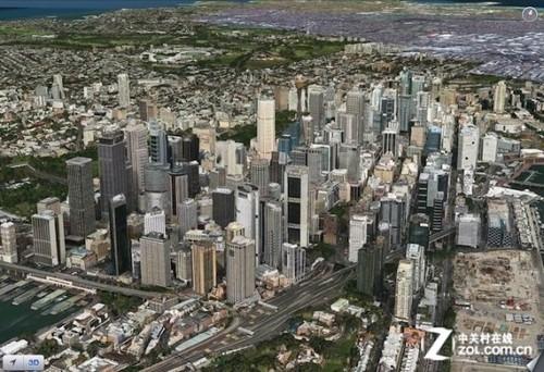 iOS6地图应用中所有支持Flyover 3D模式的城市预览