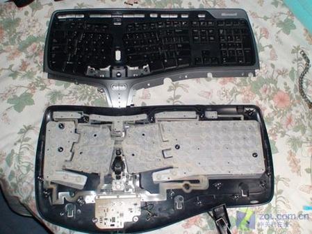 微软人体工学4000键盘 超级拆解改造